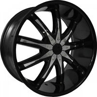 "BRAND NEW 22"" DCENTI DW29 WHEELS black with chrome inserts  FORD"