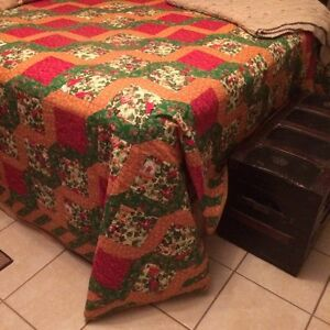 Large colourful hand stitched quilt Kawartha Lakes Peterborough Area image 1