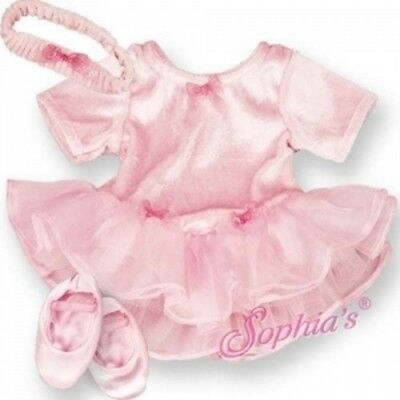 PINK BALLET / BALLERINA COSTUME includes Headband & Slippers fits Bitty - Costume Ballet Slippers