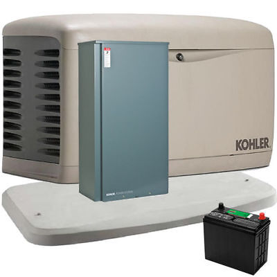 Kohler 20kw Composite Standby Generator System 200a Service Disc. W Load Sh...