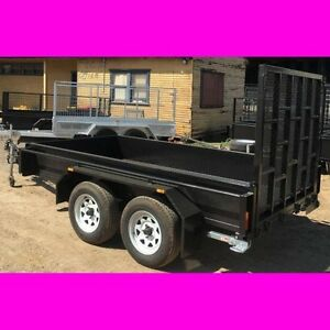 10x5 HD tandem trailer w ramp 2ton 1 pc fold 2.5mm checker plate South Windsor Hawkesbury Area Preview