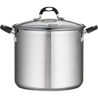 Tramontina Stainless Steel 12, 16 or 22 Quart Covered Stock