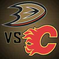 Flames vs Ducks Game 3 2nd ROW! HARDCOPY TICKETMASTER TICKETS
