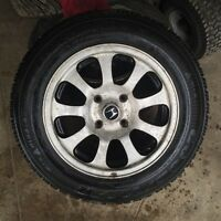 GOODYEAR NORDIC WINTER TIRES WITH ALLOYS 195/65/15