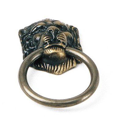 Kitchen Cabinet Hardware Lion Head Knobs 78805 Antique Brass 2