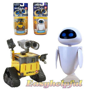 Set-of-2pcs-Disney-Pixar-Wall-E-and-Eee-Vah-EVE-MinI-Action-Figure-New-Hot-Loose