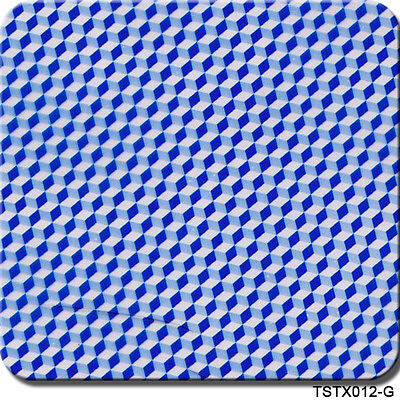 Hydrographics Film Teal Blue Carbon Fiber 20 X 6.5