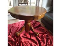 Oak claw footed hall / side Table VGC