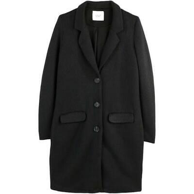 SALE! Jacqueline De Yong JDY Kelly Long Coat Womens Black Jacket Ladies Size L