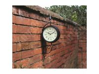 Victorian Station Style Garden Clock (New - FREE LOCAL DELIVERY)