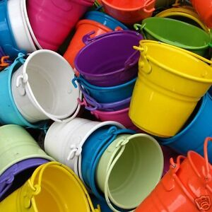 Mini buckets candy favours pail bucket wedding party gifts for Small pail buckets