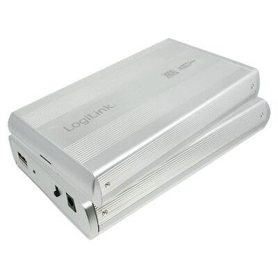 LogiLink UA0082A Festplattengehäuse 3,5'' Zoll Sata HDD USB 2.0 Alu Silber