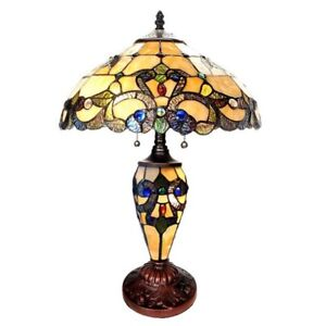 New In Box Tiffany Style Table Lamp $150
