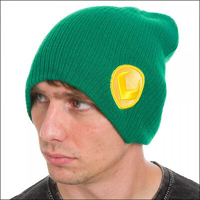 Loki Marvel Comics Costume Cosplay Roll Slouch Knit Cuff Beanie Cap Hat - Costume Loki
