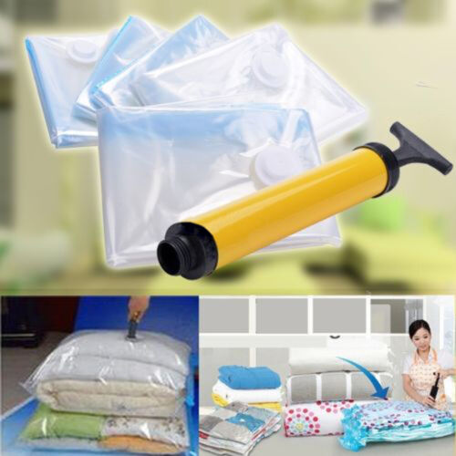 6 x Jumbo VACUUM SEAL GARMENT BAGS SPACE SAVER SAVING QUILT