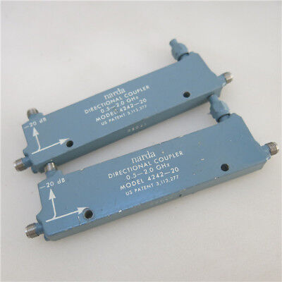 1pc Narda 4242-20 0.5-2GHz 20dB SMA RF Coaxial Microwave Directional Coupler