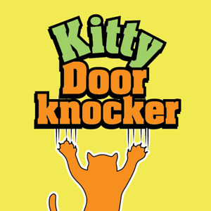 Kitty Door Knocker Patented Housetraining Cat Accessory Toy