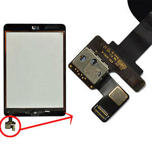 Black-Front-Panel-Touch-Screen-Glass-Lens-Digitizer-IC-connector-for-iPad-Mini