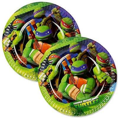 Ninja Turtles Party-Teller, 8 Stück, 18cm, Essteller zum Kindergeburtstag
