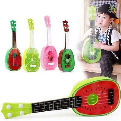 Cute Kids Children Fruit Ukulele Uke 4 Strings Small Guitar Educational Toy 1set