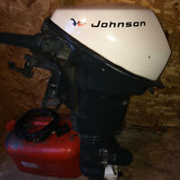 Johnson Outboard 9.5 hp with gas tank