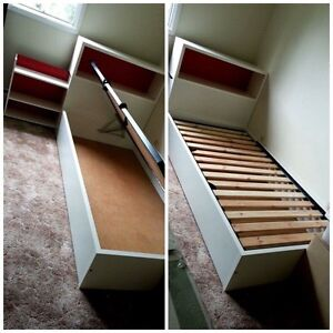 Single bed with foam