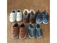 NEXT boys booties shoes size 02 6-12 months VGC