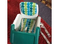 Portable eating chair