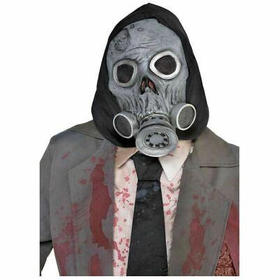 Zombie Latex Gas Maske mit Kapuze Erwachsene Größe Halloween Kostüm Zubehör