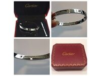 Cartier love bracelets, rose gold, gold and silver. Unisex