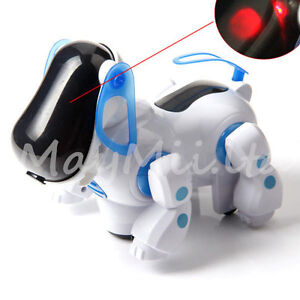 Electronic-Robotic-Walking-Pet-Dog-Puppy-Kids-Toy-With-Music-Light-Brand-New-JC