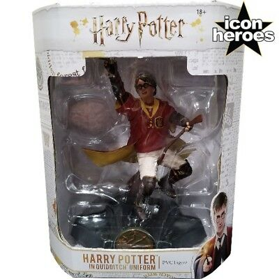 Icon Heroes Harry Potter in Quidditch Uniform PVC Figure New - Harry Potter Quidditch Uniform