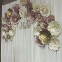 Paper flower curtain backdrop/ wedding decor