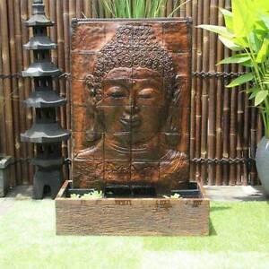 Buddha Face Balinese Concrete Modern Water Feature - 143cm