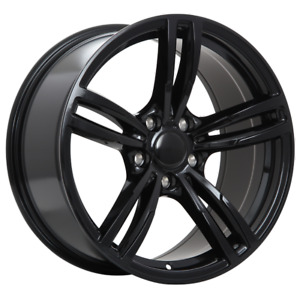 4 NEW MAG FOR  BMW REPLICA 61 GLOSS BLACK 18X8.5 ET35 CB72.66