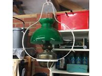 Hanging oil lamp - converted to electricity