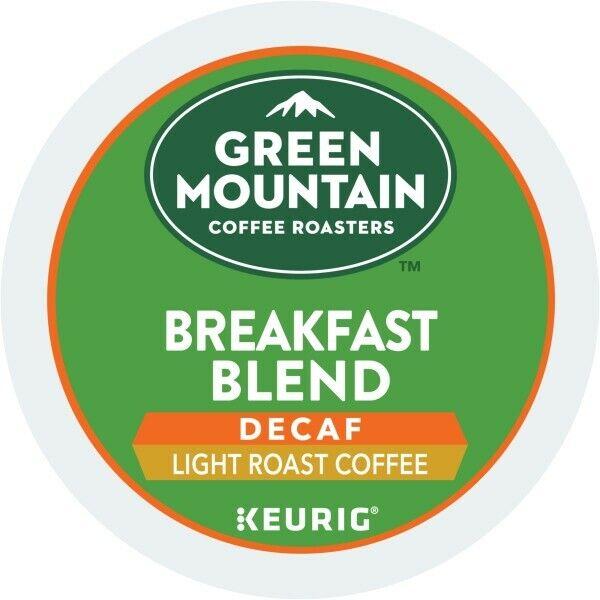 Green Mountain Coffee Breakfast Blend Decaf, Keurig K-Cup Pod, Light Roast, 96ct