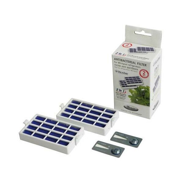2 Whirlpool Bauknecht Kühlschrank Filter HYG001 Luftfilter Hygiene 481248048173