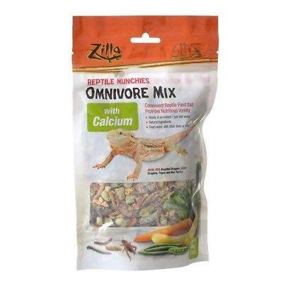 Zilla Reptile Munchies Omnivore Nutritional Mix Lizard Food with Calcium 4oz
