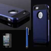 BLUE BLACK HYBRID HEAVY DUTY SHOCKPROOF CASE COVER IPHONE 5, 5S