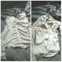 Comfortable White Bench Sweater - CHEAP!