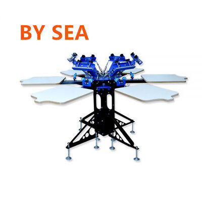 6 Color 6 Station Manual Silk Screen Printing Machine Printing Equipment By Sea