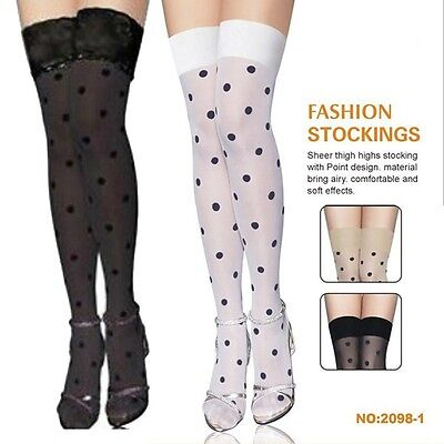 Sexy Unique Stay Up Top with Black Dots Thigh-Highs Stockings Pantyhose-2098](Unique Thigh Highs)
