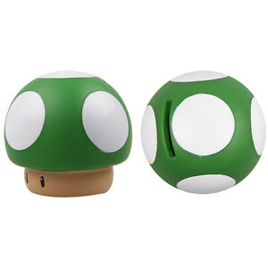Green-Cute-Super-Mario-Mushroom-Shape-9cm-Coin-Piggy-Bank-Money-Bank-Saver