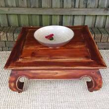 Square Teak Coffee Table Distressed Finish Upcycled Furniture Coogee Eastern Suburbs Preview