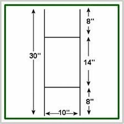 10 Pack Corrugated H-frame Wire Stakes - Signs Not Included