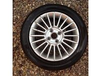 VW Up alloy wheel and tyre