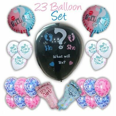 Baby Gender Reveal Party Ideas (Gender Reveal Party Balloon Set - Boy/Girl Confetti Baby Shower)