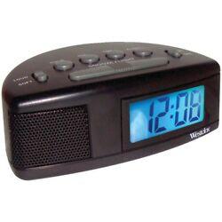 Westclox 47547 Super Loud LCD Alarm Clock Blue Backlight