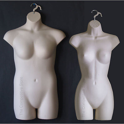 Fleshtone Female Dress Plus Size Mannequin Forms - Display S-m And 1x-2x Sizes